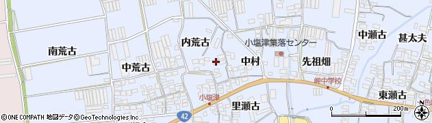 愛知県田原市小塩津町(内荒古)周辺の地図