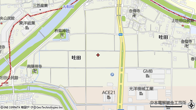 〒636-0206 奈良県磯城郡川西町吐田の地図