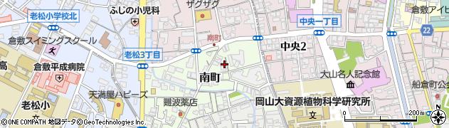 岡山県倉敷市南町周辺の地図