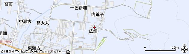 愛知県田原市和地町(広畑)周辺の地図