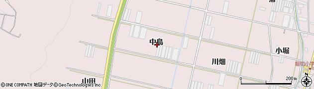 愛知県田原市堀切町(中島)周辺の地図