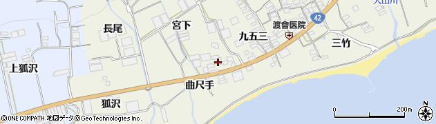 愛知県田原市越戸町(曲尺手)周辺の地図