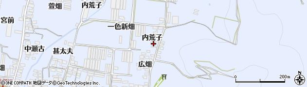 愛知県田原市和地町(内荒子)周辺の地図