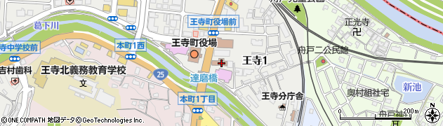 奈良県広域消防組合西和消防署周辺の地図