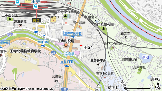 〒636-0002 奈良県北葛城郡王寺町王寺の地図
