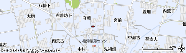 愛知県田原市小塩津町周辺の地図