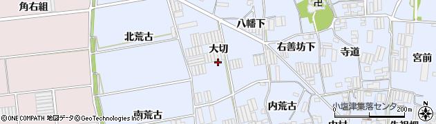 愛知県田原市小塩津町(大切)周辺の地図