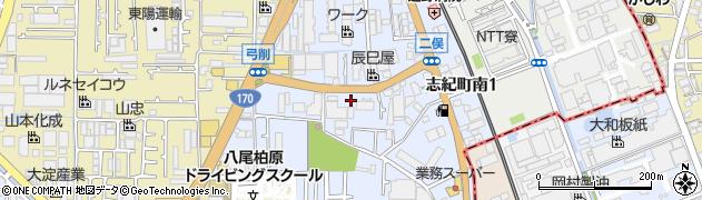 大阪府八尾市志紀町南周辺の地図
