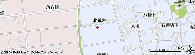 愛知県田原市小塩津町(北荒古)周辺の地図