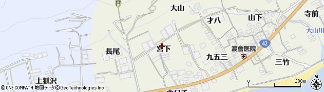 愛知県田原市越戸町(宮下)周辺の地図