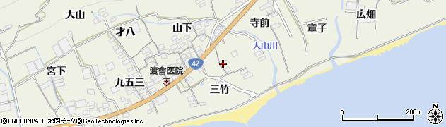 愛知県田原市越戸町(三竹)周辺の地図