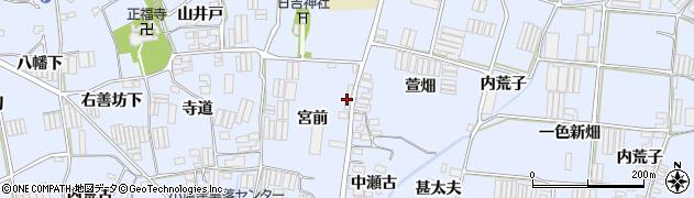 愛知県田原市小塩津町(宮前)周辺の地図