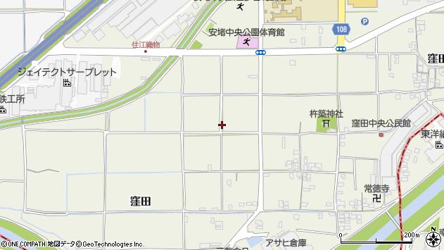 〒639-1064 奈良県生駒郡安堵町窪田の地図