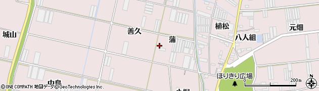 愛知県田原市堀切町(蒲)周辺の地図