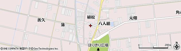 愛知県田原市堀切町(植松)周辺の地図