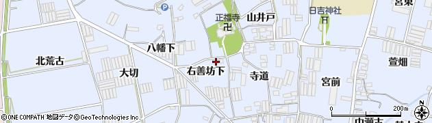 愛知県田原市小塩津町(右善坊下)周辺の地図
