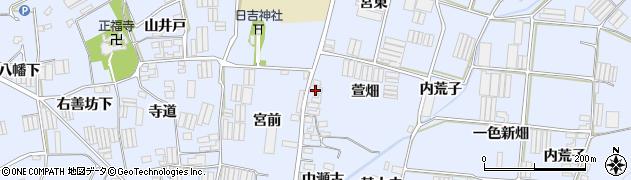 愛知県田原市小塩津町(萱畑)周辺の地図