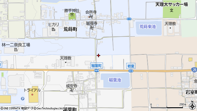 〒632-0083 奈良県天理市稲葉町の地図