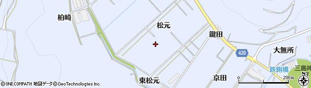 愛知県田原市和地町(松元)周辺の地図