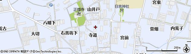 愛知県田原市小塩津町(寺道)周辺の地図