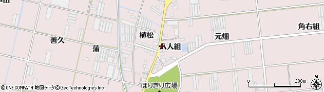 愛知県田原市堀切町(八人組)周辺の地図