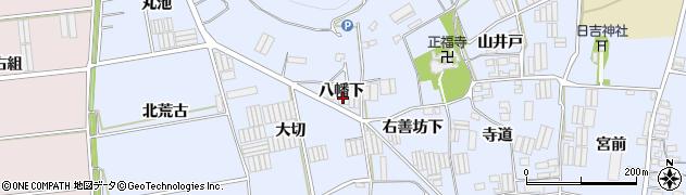 愛知県田原市小塩津町(八幡下)周辺の地図