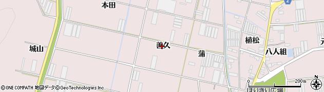 愛知県田原市堀切町(善久)周辺の地図