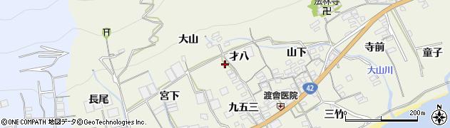 愛知県田原市越戸町(才八)周辺の地図