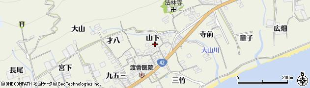 愛知県田原市越戸町(山下)周辺の地図