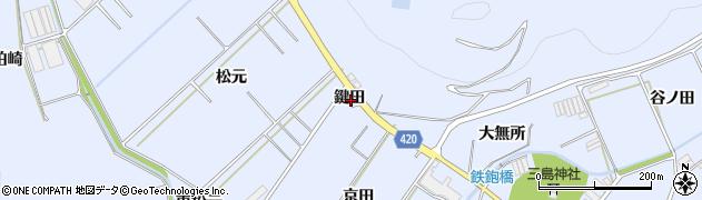 愛知県田原市和地町(鍵田)周辺の地図