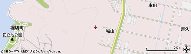 愛知県田原市堀切町(城山)周辺の地図