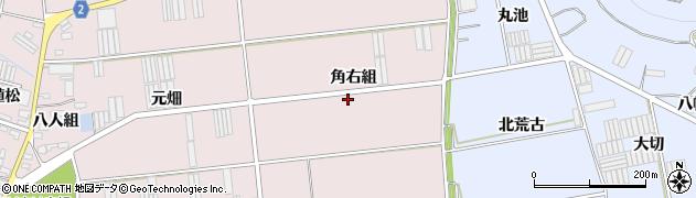 愛知県田原市堀切町(角右組)周辺の地図