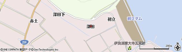 愛知県田原市伊良湖町(深田)周辺の地図