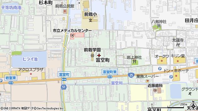 〒632-0072 奈良県天理市富堂町の地図