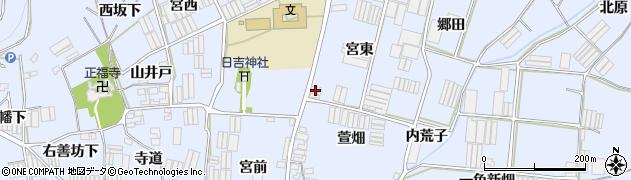 愛知県田原市小塩津町(宮東)周辺の地図