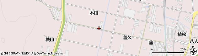 愛知県田原市堀切町(北田)周辺の地図