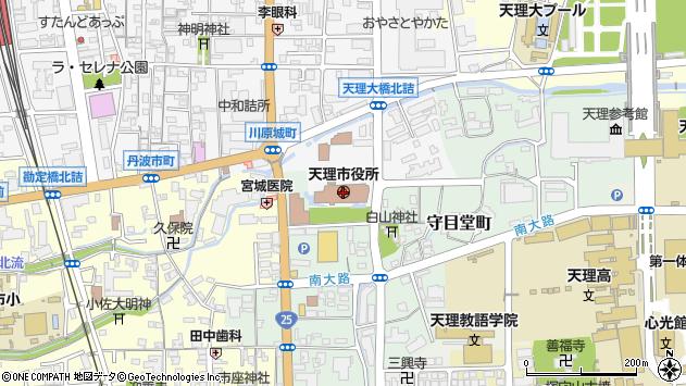 〒632-0000 奈良県天理市(以下に掲載がない場合)の地図