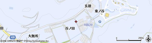 愛知県田原市和地町(谷ノ田)周辺の地図