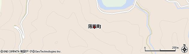 島根県益田市薄原町周辺の地図