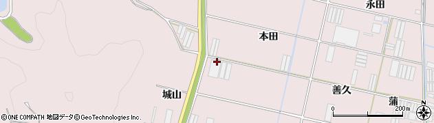 愛知県田原市堀切町(本田)周辺の地図
