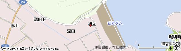 愛知県田原市伊良湖町(初立)周辺の地図