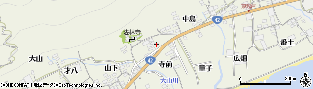 愛知県田原市越戸町(寺前)周辺の地図