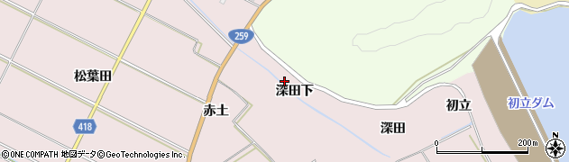 愛知県田原市伊良湖町(深田下)周辺の地図