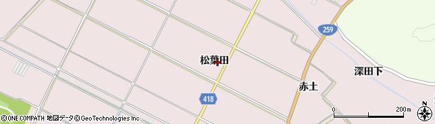 愛知県田原市伊良湖町(松葉田)周辺の地図