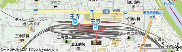 奈良県北葛城郡王寺町周辺の地図