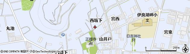 愛知県田原市小塩津町(西坂下)周辺の地図