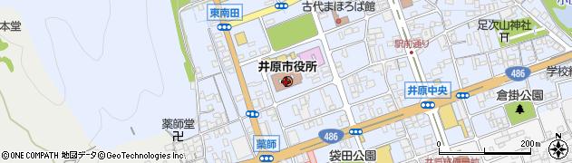 岡山県井原市周辺の地図