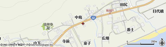 愛知県田原市越戸町(童子)周辺の地図