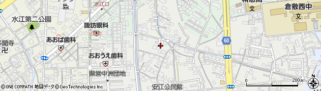 岡山県倉敷市安江周辺の地図
