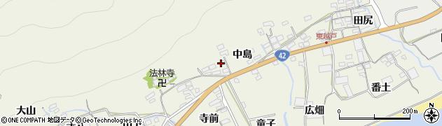 愛知県田原市越戸町(中島)周辺の地図